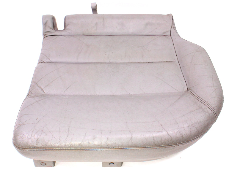 LH Rear Lower Seat Cushion & Cover 01-05 VW Passat Wagon B5.5 Grey Leather