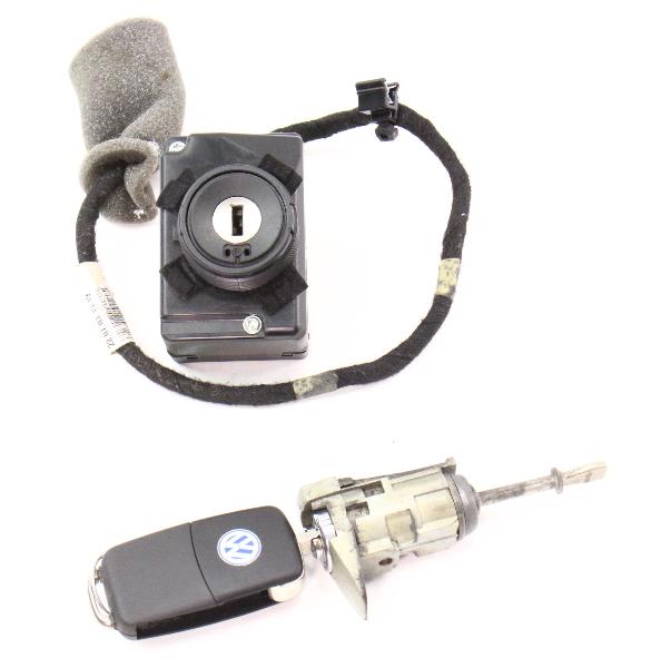 Ignition Key Door Handle Lock Set 04-06 VW Phaeton ~ Genuine ~ 3D0 905 865 D
