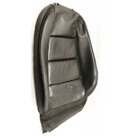 LH Front Seat Backrest Cover 02-05 Audi A4 B6 - Black Leather - Genuine