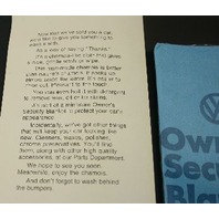 "1974 Rare Vintage ""Wash Me"" VW Beetle Dealership Brochure Advertising"