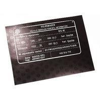 Vehicle Emission Information Sticker 2010 VW Jetta Rabbit GTI MK5 - 1K0 010 715
