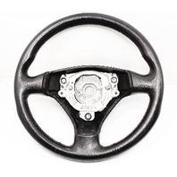 Sports Steering Wheel 3 Spoke 02-05 Audi A4 B6 - Black Leather - 8E0 419 091 AS