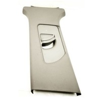 LH B Pillar Interior Trim Seatbelt Panel 02-05 Audi A4 B6 - Gray - 8E0 867 243 A