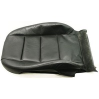RH Front Backrest Cover 02-08 Audi A4 S4 B6 B7 Heated Black Leather - Passenger