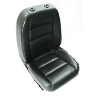 LH Driver Front Seat Power Heated 02-05 Audi A4 B6 - Black Leather - Genuine