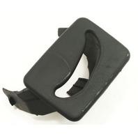 Center Rear Seat Belt Guide Trim 02-08 Audi A4 S4 B6 B7 - Black - Genuine