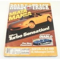 Road & Track, November 1989 - Mazda Miata Mania - Lamborghini Diablo