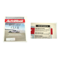 AutoWeek Magazine August 31 1992 - Mazda RX-7 Tri-Turbo - Rotary Club