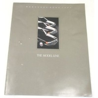 1989 Mercedes Benz Original Dealer Brochure Poster