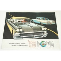 Original Dealer Showroom Brochure Poster - 1958 Ford