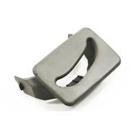 Center Rear Seatbelt Guide Trim 02-05 Audi A4 B6 Gray - Genuine