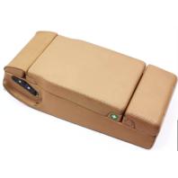 Rear Back Seat Armrest 00-03 Audi A8 D2 Coconut Brown Leather Arm Rest - Genuine