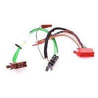 Radio Head Unit Wiring Plugs Connector Pigtail 88-92 Audi 80 90 - Genuine