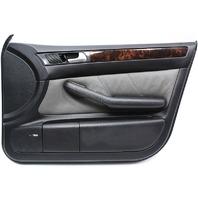 RH Front Door Panel 01-05 Audi Allroad - Dark Gray Leather & Wood - Genuine