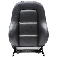 RH Front Seat Backrest 00-06 Audi TT MK1 Roadster - Dark Gray Leather - Genuine