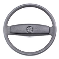 Steering Wheel Genuine VW Vanagon T3 80-91 Stock Factory OE Black W/ Horn Pad