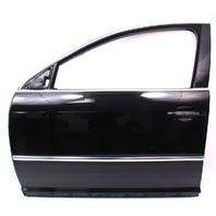 LH Front Door Assembly 04-06 VW Phaeton - L041 Black - Genuine