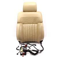RH Front Seat Back Rest - Massaging / Airbag - 04-06 VW Phaeton - Beige Leather