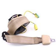 LH Front Seatbelt Shoulder Belt 04-06 VW Phaeton - Beige Tan - Genuine