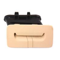 Center Rear Seat Belt Trim Guide 04-06 VW Phaeton - Beige Tan - 3D0 857 651 B