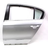 LH Rear Door Shell 06-10 VW Passat B6 Sedan - LA7W Reflex Silver - Genuine