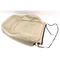 RH Front Seat Upper Back Rest Cover 04-10 VW Beetle - Beige Leather - Genuine