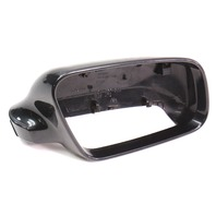 RH Exterior Side View Mirror Cap Cover 99-02 Audi A4 B5 - Black - 8D0 857 508