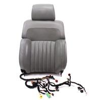 LH Front Grey Leather Seat Back Rest 04-06 VW Phaeton - Massaging / Airbag