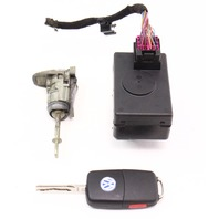 Ignition Key Door Handle Lock Set 04-06 VW Phaeton - Genuine - 3D0 905 865 D