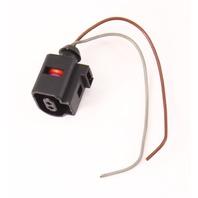 2 Pin Pigtail Plug Wiring VW Jetta Golf MK4 MK5 Beetle Audi A6 A4  1J0 973 702 B