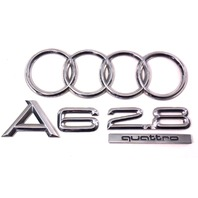 Rear Trunk Emblems Badges 98-04 Audi A6 2.8 Quattro - Genuine