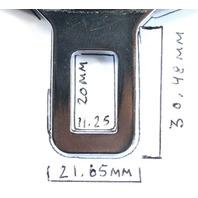 Set of 2 Male Seat Belt Seatbelt Buckle Clip VW Jetta Golf GTI Touareg Audi A4 ~