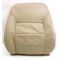 RH Front Seat Back Rest Cover & Foam 02-05 VW Jetta Golf MK4 - Beige Leather