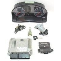 Lock Key Set Ignition Gauge Cluster ECU Immobilizer 05-10 VW Jetta MK5 TDI