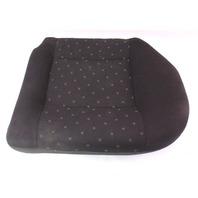 LH Rear Back Seat Cushion Foam & Cover 99-01 VW Jetta Golf MK4 - Black Cloth