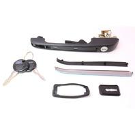 LH Door Handle & Keys Set 75-84 VW Jetta Rabbit Mk1 - JP Group - 191 837 205 A
