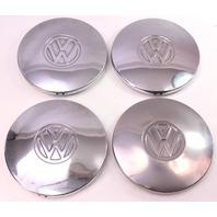 Chrome Steel Wheel Center Hub Cap Hubcap Set 75-84 VW Rabbit Jetta Pickup MK1