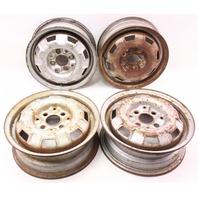 """13"""" x 4.5"""" Steel Wheel Rim Set 4x100 VW Jetta Rabbit Pickup MK1 ~ 175 601 025 B"""