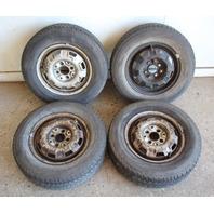 """13"""" x 4.5"""" Steel Wheel Rim Set 4x100 VW Jetta Rabbit Pickup MK1 With Tires"""