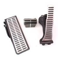 Aluminum Pedal Set Gas Brake Dead Rest 05-10 VW Rabbit GTI Jetta MK5 - Genuine