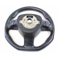 Jetta Rabbit GTI GLI Perforated Sports Steering Wheel Black Leather 05-10 VW MK5