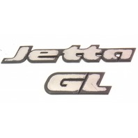 Trunk Emblems Badges VW Jetta GL MK3 - Genuine - 1HM 853 687 AC