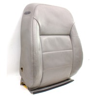 RH Front Seat Back Rest & Cover 99-05 VW Jetta Golf MK4 Grey Leather - Genuine