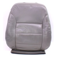 RH Front Seat Back Rest & Cover 99-05 VW Jetta Golf MK4 Grey Leather ~ Genuine