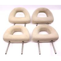 Complete Headrest Head Rest Set 98-05 VW Beetle - Beige Cloth - Genuine
