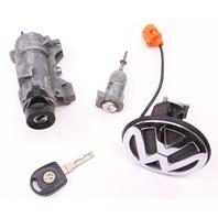 Lock Key Set Ignition Door Handle 99-05 VW Jetta Golf GTI MK4 - 4B0 905 851 B