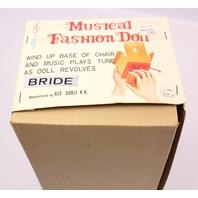 Vintage Musical Fashion Doll Bride 4879 ACE SHOJI K.K. Tokyo Japan