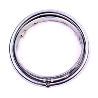Head Light Lamp Chrome Trim Ring Surround 67-79 VW Beetle Bug Bus Genuine Hella