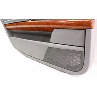 LH Rear Interior Door Panel Card 04-06 VW Phaeton - Gray - With Sun Shade Screen