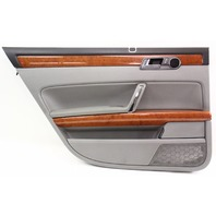 LH Rear Interior Door Panel Card 04-06 VW Phaeton - Gray - With Sun Shade Screen